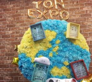 さいたまスーパーアリーナ 04 Limited Sazabys様の『YON EXPO』公演祝い地球モチーフフラスタ