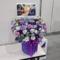 東京ビッグサイト 乃木坂46 梅澤美波様の握手会祝い花 紫×水色
