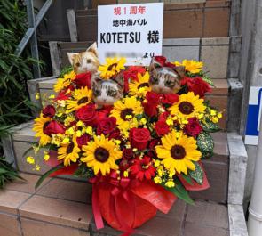 西新宿 地中海バル KOTETSU様の1周年祝い花