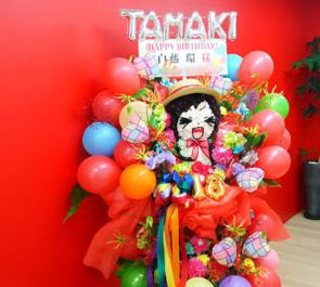 岩本町芸能社特設会場 白藤環様の誕生祭祝いキャラクターモチーフフラスタ