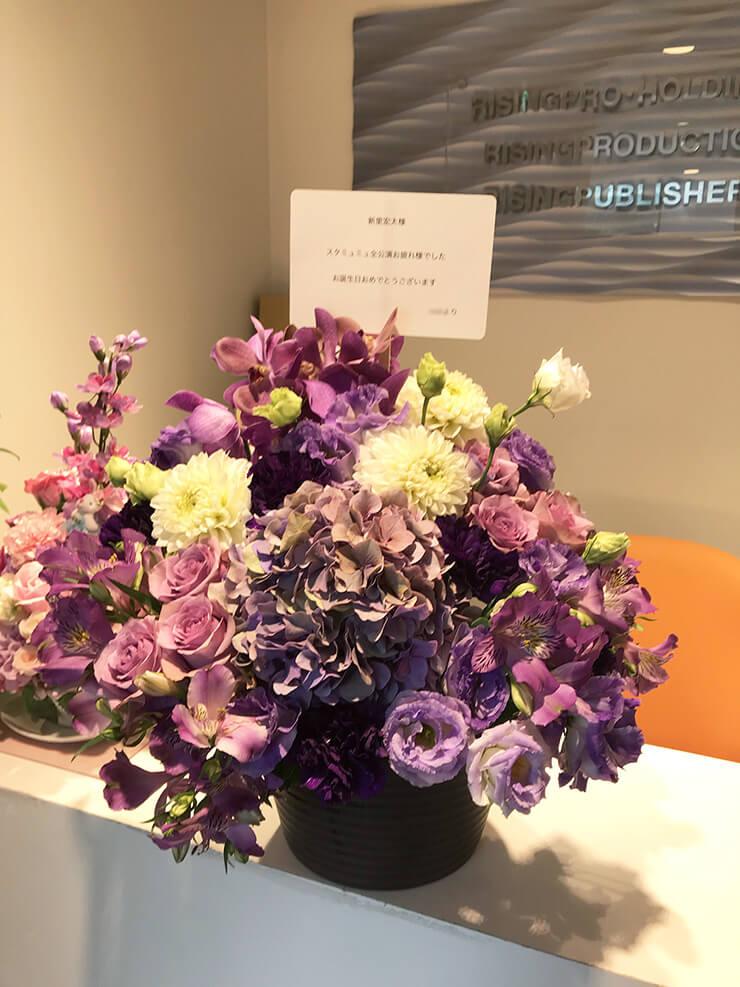 ライジングプロダクション 新里宏太様のスタミュミュ公演お疲れさまでした祝い花