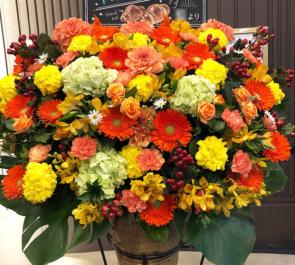 浅草花劇場 千田京平様の舞台出演祝いコーンスタンド花