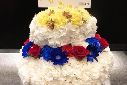 Mt.RAINIER HALL SHIBUYA PLEASURE PLEASURE 橋本真一様のBDイベント祝い花 フラワーケーキ
