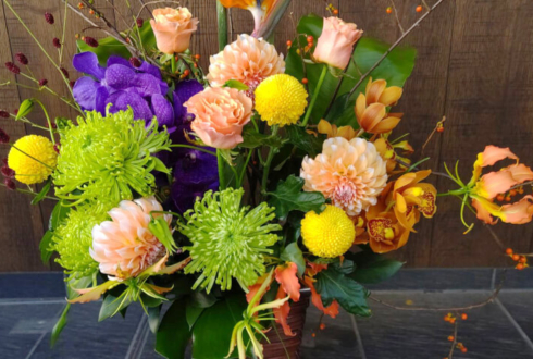 銀座 結絆様の開店祝い花