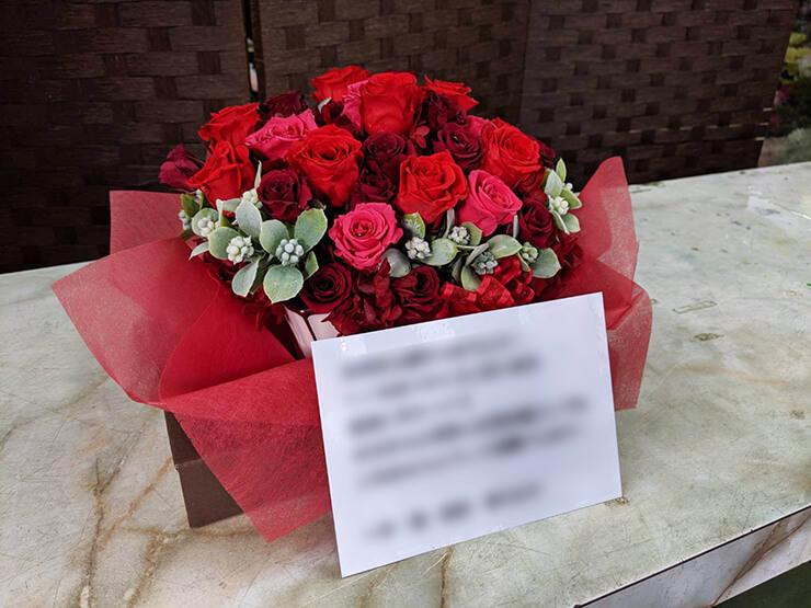 横浜市 還暦祝い花 プリザーブドフラワーアレンジメント