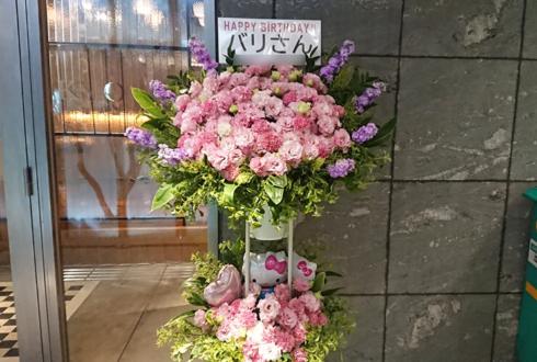 六本木VIP ROPPONGI バリ様の誕生日祝いスタンド花2段