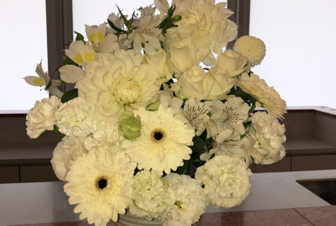 品川インターシティホール 立花理香様のライブ公演祝い楽屋花