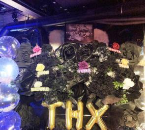 渋谷WOMB THX様のお披露目スペシャルライブ公演祝い連結フラスタ