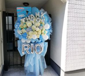 新宿KeyStudio ラストアイドル 清原梨央様のヨルライ卒業イベント祝い花束風スタンド花