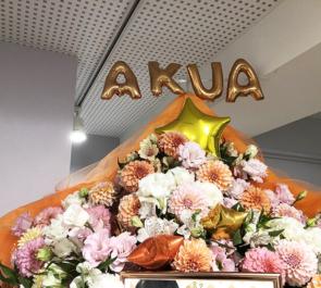 ONEDAY AKUA様のBDイベント祝いフラスタ @IKEBUKURO MEN'S BOX