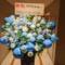 新国立劇場 スギちゃんのミュージカル「ズボン船長」出演祝いアイアンスタンド花