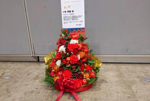 日向坂46二期生 小坂菜緒様のワンマンライブ公演祝い花 Xmasツリーアレンジ @幕張メッセ