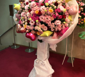 内田真礼様のMaaya Happy Birthday Party!! 2019開催祝いフラスタ Pink濃淡 @新宿文化センター