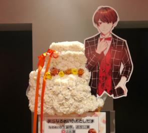 めいちゃんの生誕祭祝いバースデーケーキモチーフフラスタ @ZeppTokyo