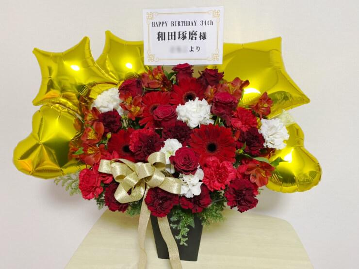 和田琢磨様のBDイベント祝い楽屋花 @浜離宮朝日小ホール