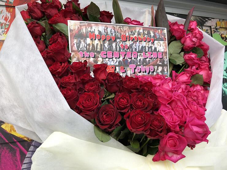 vistlip 智様&Tohya様のBDライブ公演祝い花束風ハートスタンド花 @新宿BLAZE
