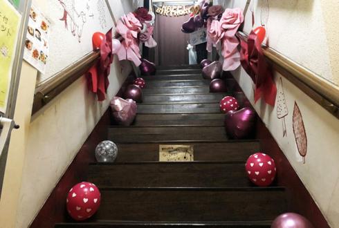 amiinA miyu様のBDライブ公演祝い階段装飾 @下北沢mona records