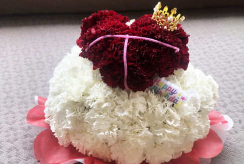 名取さな様の生誕祭イベント『さなのばくたん。- バースディ・サナトリウム -』公演祝い花 ハートフラワーケーキ2段 @イオンシネマ港北ニュータウン【中止】