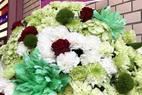 渡辺健太様のバースデーイベント祝いコーンスタンド花 @銀座 カラオケバーK