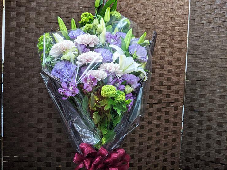 美酒はんなり様へ季節のご挨拶のお花