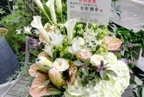 神谷町デンタルオフィス様の開院祝い花 @港区虎ノ門