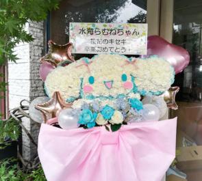 水海らむね様の卒業公演祝いシナモロールモチーフフラスタ @天王洲Kit+en