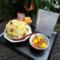 沢城千春様のラジオ番組「THE CATCH」最終回祝い花 チャーハン定食モチーフ @文化放送
