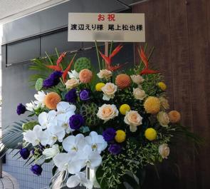 渡辺えり様 尾上松也様の舞台出演祝いスタンド花 @本多劇場