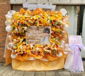 UNIVERSAL BOYS 松村心博様の生誕祭ライブ公演祝い3基連結フラスタ @原宿ストロボカフェ