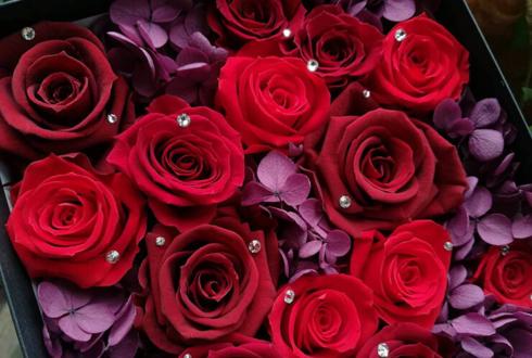 筋肉・美容クリニック様の開院祝い花 プリザーブドフラワーBoxアレンジ @麻布十番