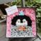 黒木ほの香様の誕生日祝い花 プリザーブドフラワーBOXアレンジ コウペンちゃんモチーフ @スターダストプロモーション