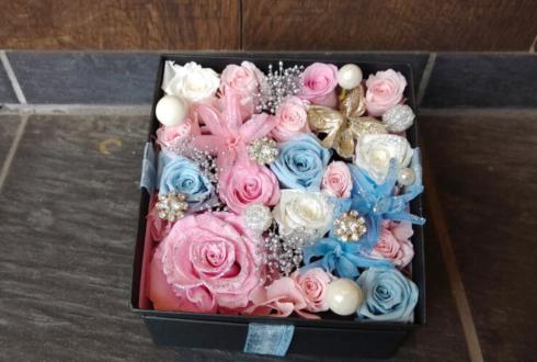 Maison book girl 矢川葵様の配信イベント祝い花 プリザーブドフラワーBOXアレンジ @高円寺pundit'