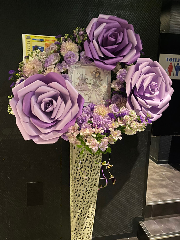 フリカケ≠ぱにっく 熊田佳奈絵様の生誕祭祝いアイアンスタンド花 @Twin Box AKIHABARA