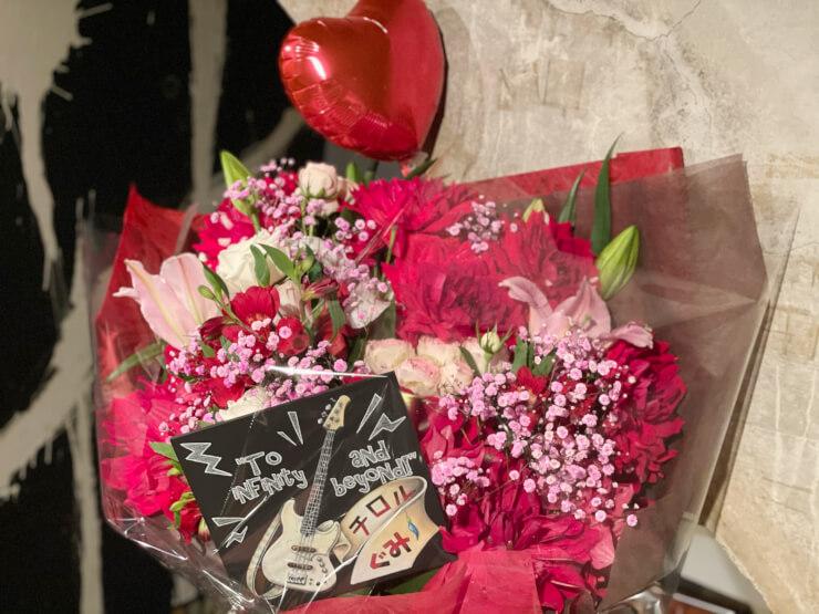 チロル ぐみ・中村恵美様のバンド脱退感謝とお疲れ様の花束 @六本木morph-tokyo