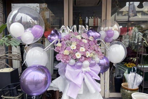 あくん様の生誕イベント祝い花 @カフェプリンス。