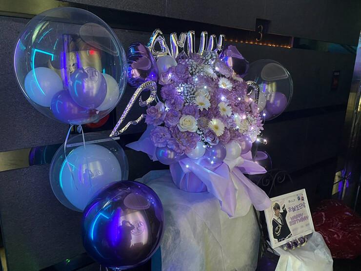 あくん様の生誕イベント祝い花 会場装飾@カフェプリンス。