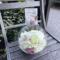 【 #月の光も雨の音も 】ご自宅での推し事に 千疋隼斗様の舞台「君の顔なんかイモみたい」出演祝い花 ガラスボールアレンジ