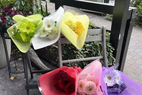 アクアノート様の5thワンマンライブ演出用花束 @オルタナティブシアター