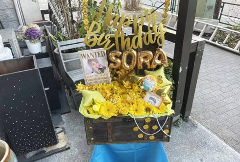 戦国GEKOKUJO 依光希空様のライブ公演祝い花 宝箱アレンジ @GARRET udagawa