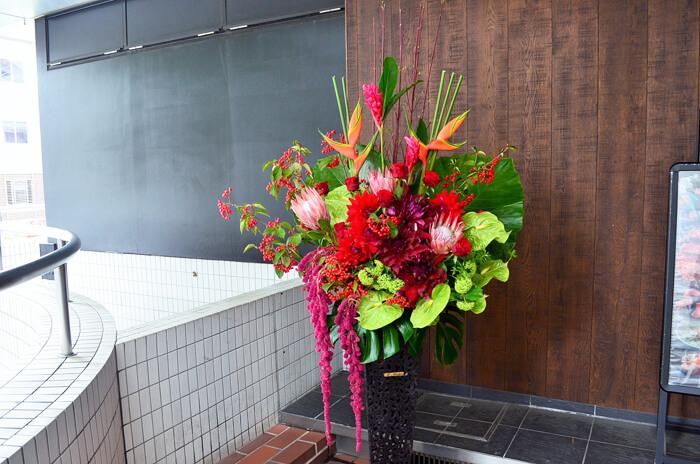 プロテア使用スタンド花