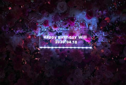 ライトアップアクリルパネル:AlbaNox うぃる様の生誕祭祝い3基連結フラスタ