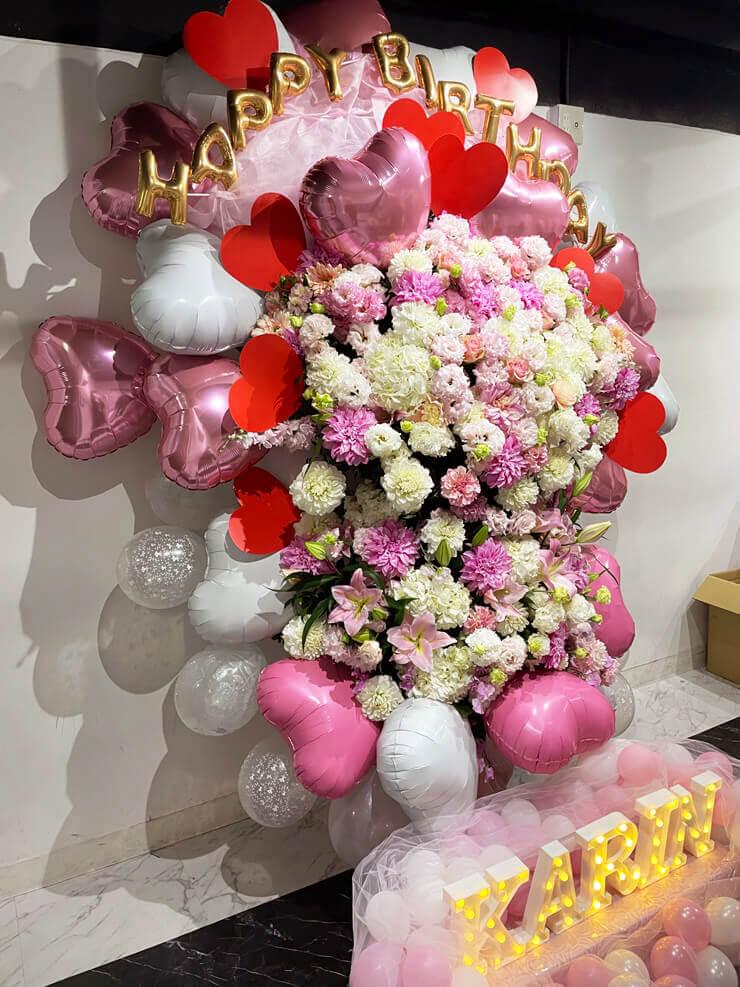 ナナランド 雪村花鈴様の生誕祭祝いフラスタ @白金高輪SELENE b2