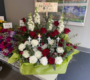 夢月様の舞台『西園寺家の繁用』出演祝い花 @シアターグリーンBOXinBOX THEATER