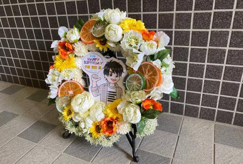 【 #ヲモヒヲカタチニプラス 】千葉瑞己様の誕生日祝い花 リースアレンジ @アズリードカンパニー
