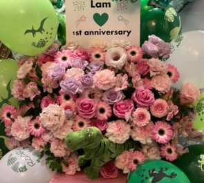 Lam様の1周年イベント開催祝いフラスタ @Burlesque TOKYO