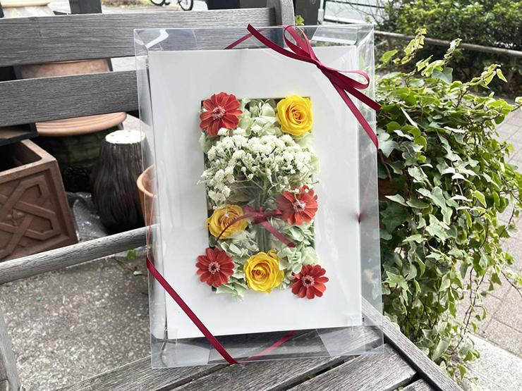 【 #ヲモヒヲカタチニプラス 】大西亜玖璃様のソロアーティストデビュー祝い花 プリザーブドアレンジメント @リンク・プラン