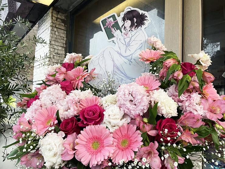 【 #ヲモヒヲカタチニプラス 】上田麗奈様のライブ公演祝いフラスタ @LINE CUBE SHIBUYA 【花屋店頭展示】