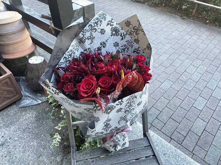 撮影打ち上げ用&誕生日祝い花束 @都内某所