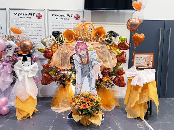ふぇにくろ様のライブ「チョコレートストーリー」出演祝い3基連結フラスタ @豊洲PIT