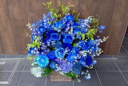 誕生日祝い花 ブルーアレンジ @渋谷